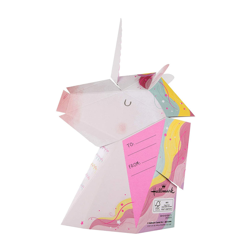100% Recyclable Mother's Day Card for Mum - Pop-Up 3D Unicorn Design