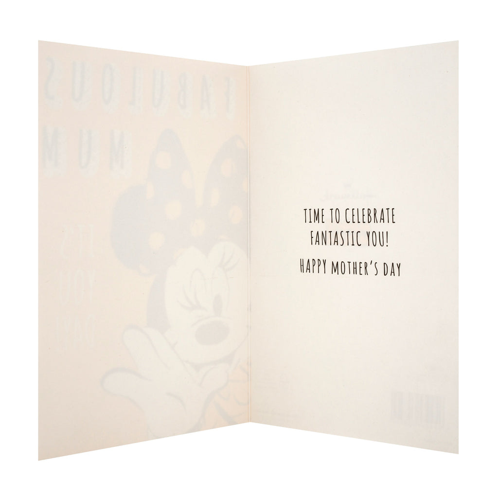 Mother's Day Card for Mum - Fun Disney Minnie Mouse Design