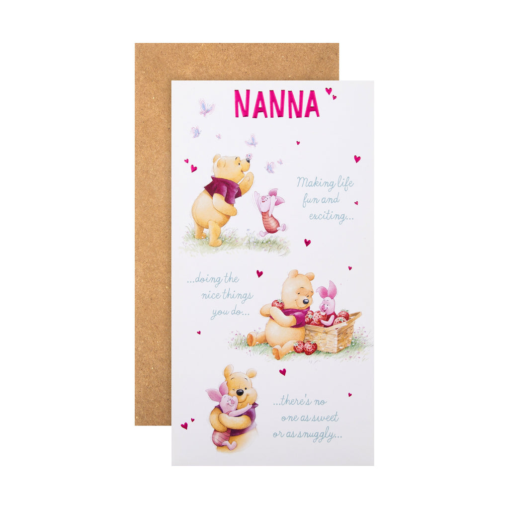 Mother's Day Card for Nanna - Cute Disney Winnie-the-Pooh Design