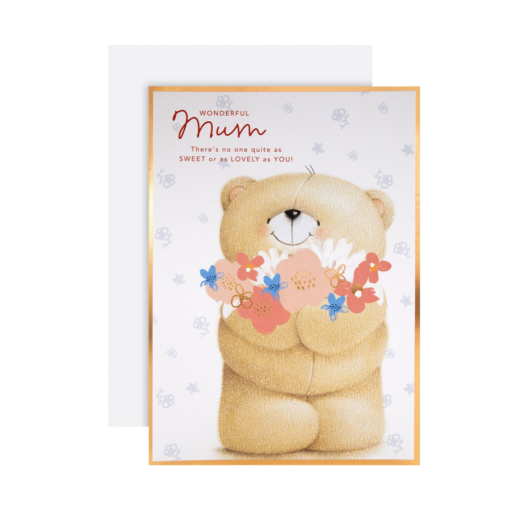 Mother's Day Card for Mum - Large Cute Forever Friends Design