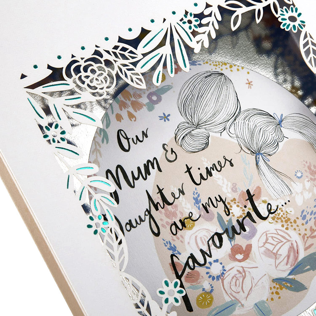 100% Recyclable Mother's Day Card for Mum from Daughter - Laser-cut 3D Frame Design