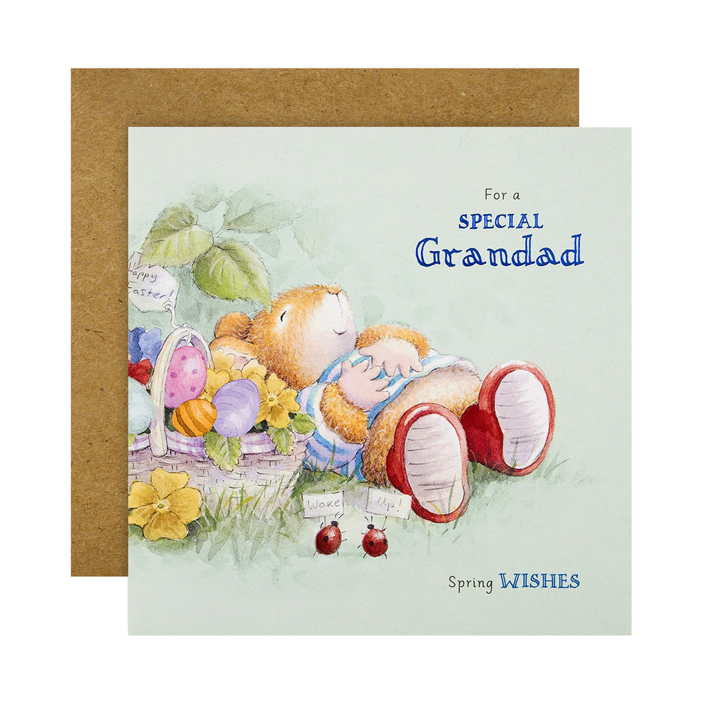 Easter Card for Grandad - Cute Country Companions Design
