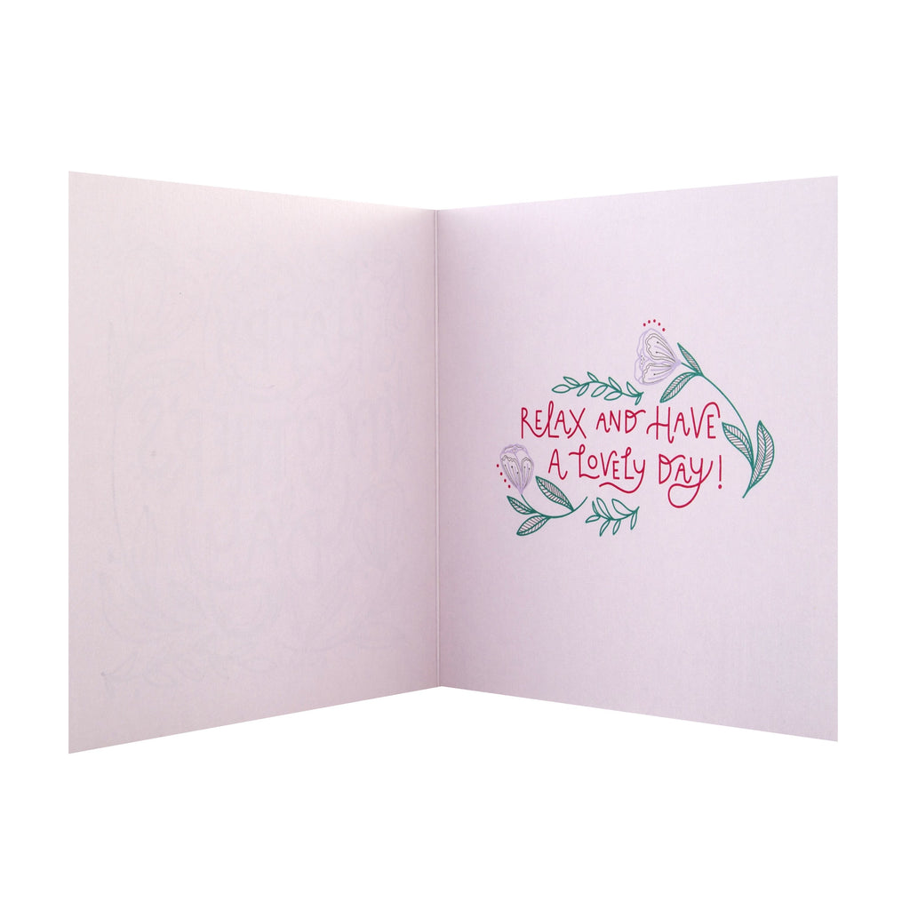 100% Recyclable Mother's Day Card - Contemporary Foiled Text Design