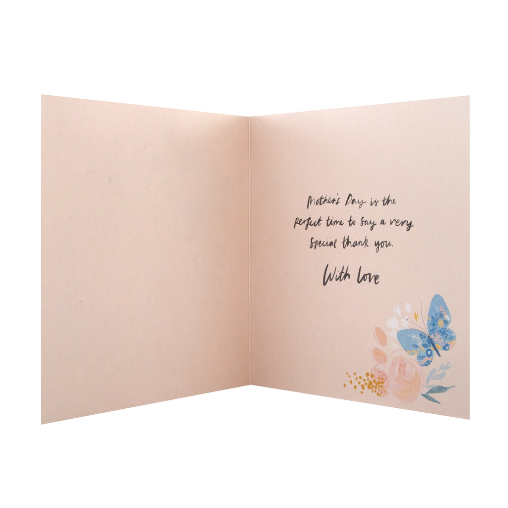 100% Recyclable Mother's Day Card for Mum - Contemporary Floral Design