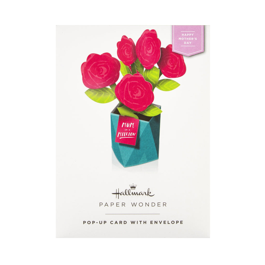 100% Recyclable Mother's Day Card for Mum - Pop-up Flowers Design