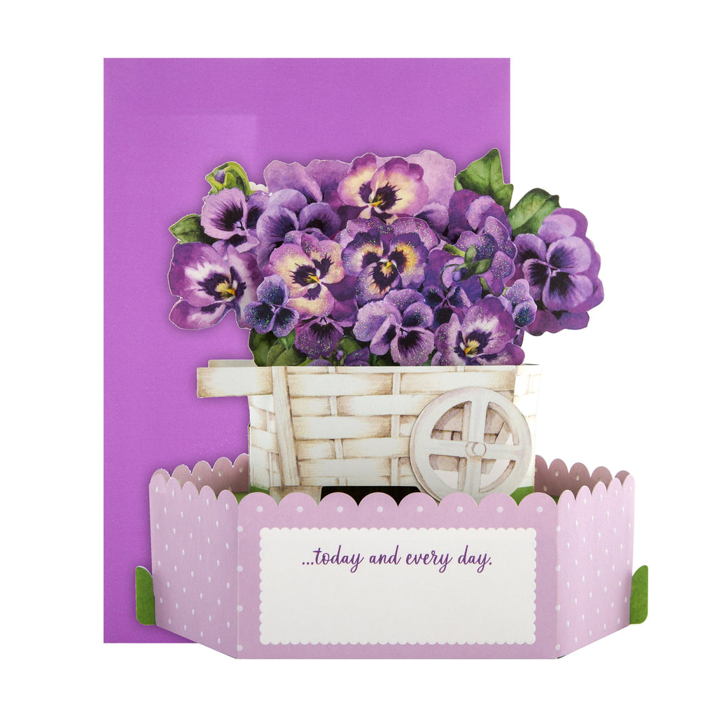 Mother's Day Card - 3D Pop-up, Floral Paper Wonder Design