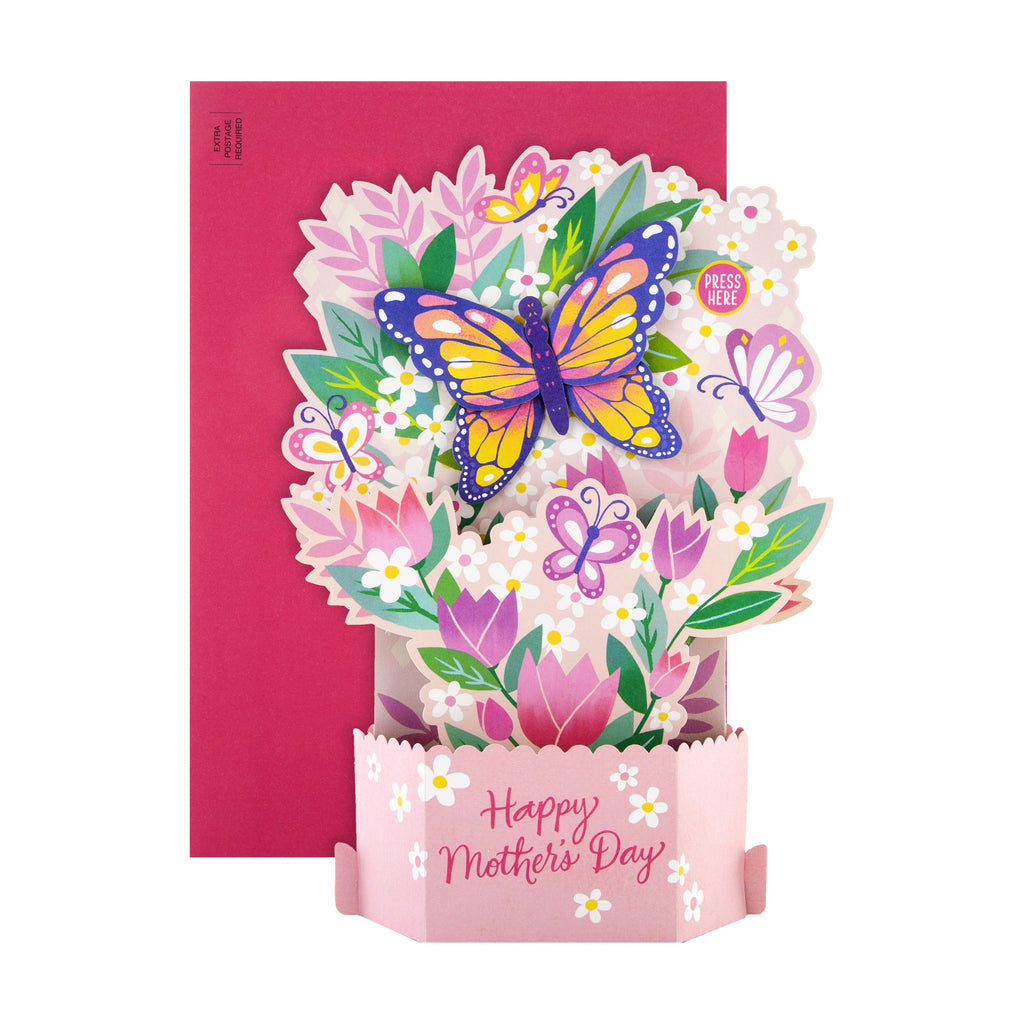Mother's Day Card - 3D Musical Pop-up Paper Wonder Design