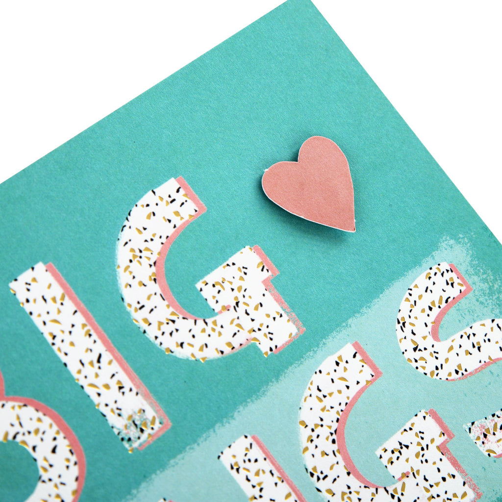 General Love/Support Card - Contemporary Text Based Design
