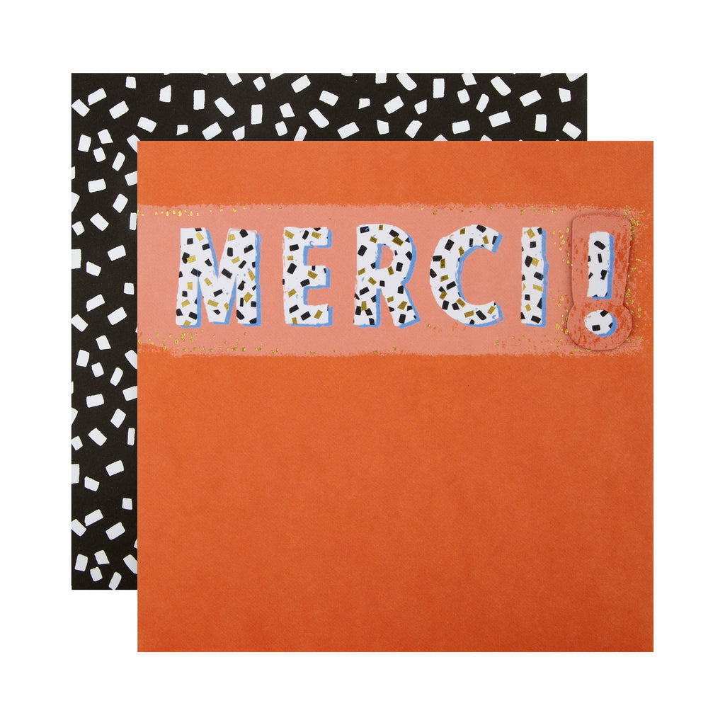 Thank You Card - Contemporary Patterned Text Design