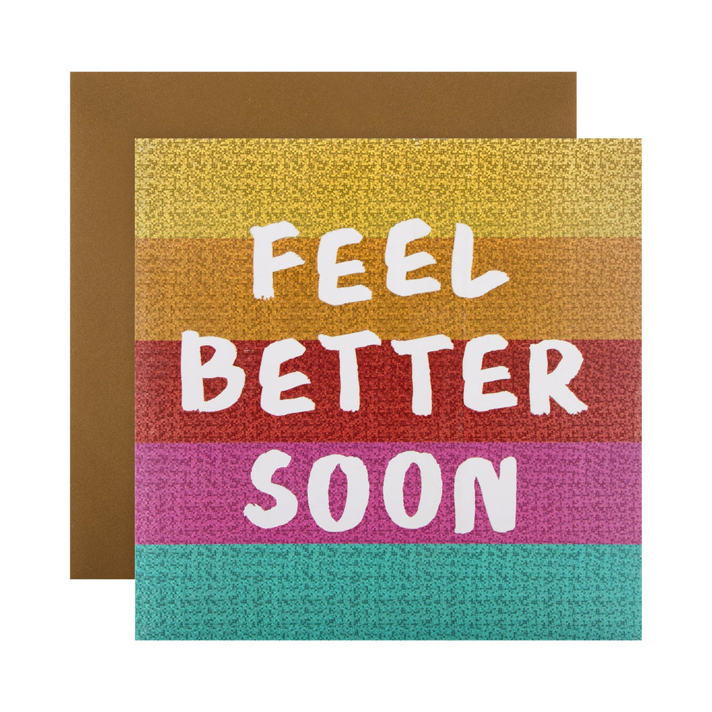 Get Well/Feel Better Soon Card - Contemporary Text Based Design