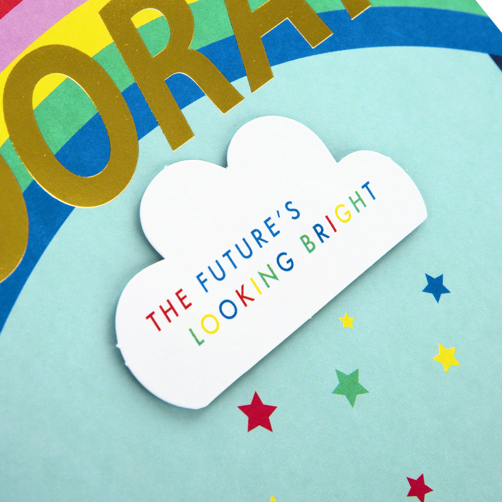 Congratulations Card - Contemporary Rainbow Themed Design