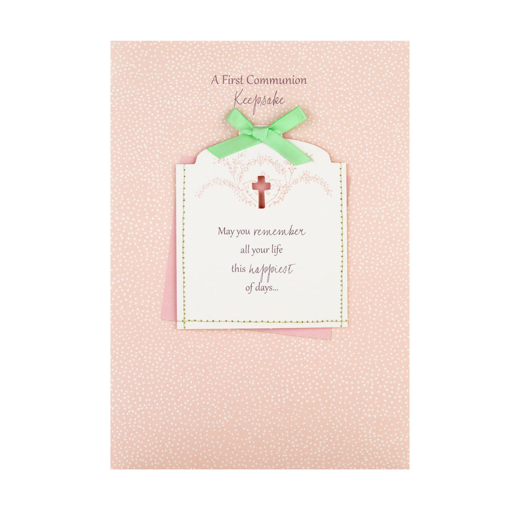 First Communion Celebration Card - With Keepsake Journal