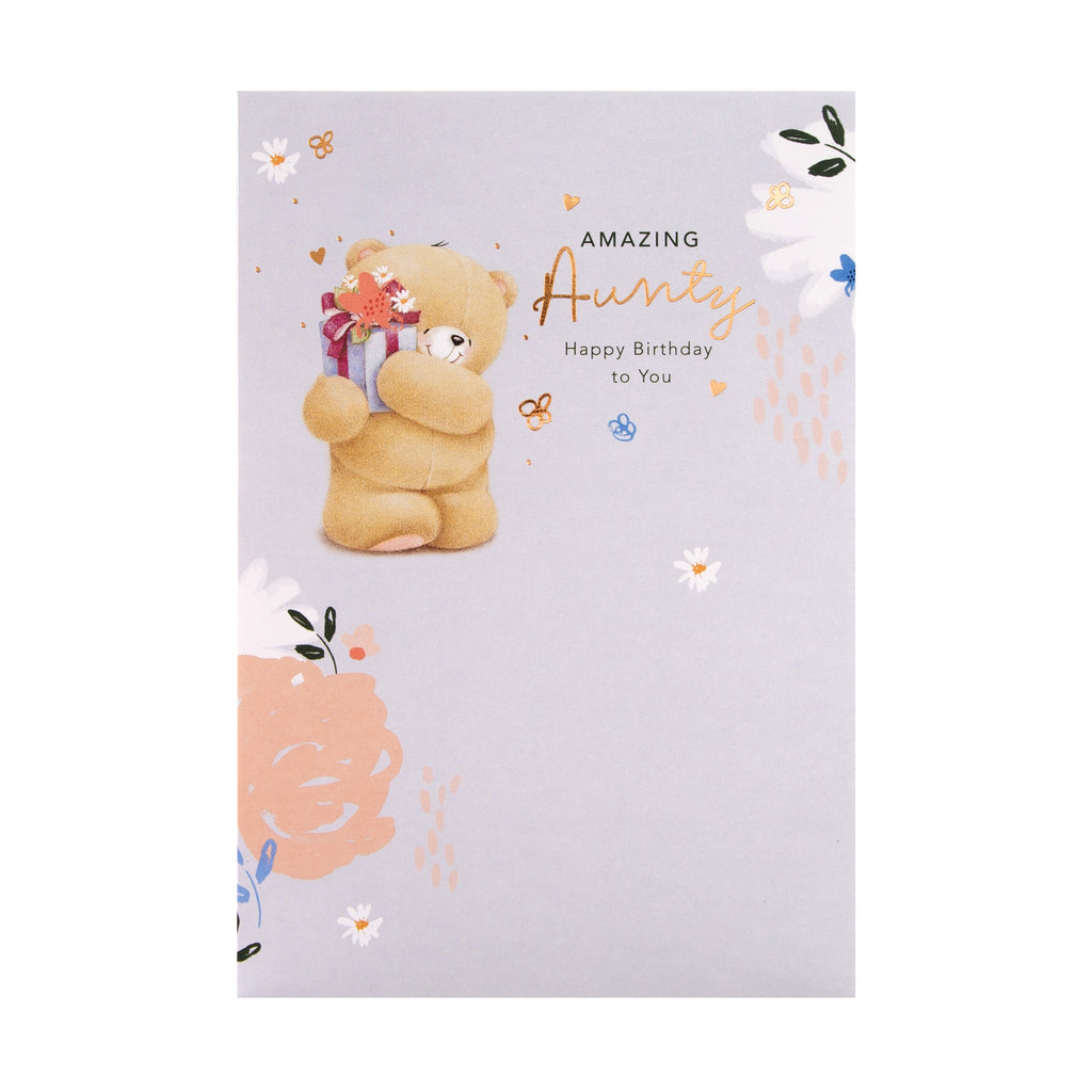 Birthday Card for Aunty - Cute Forever Friends Design
