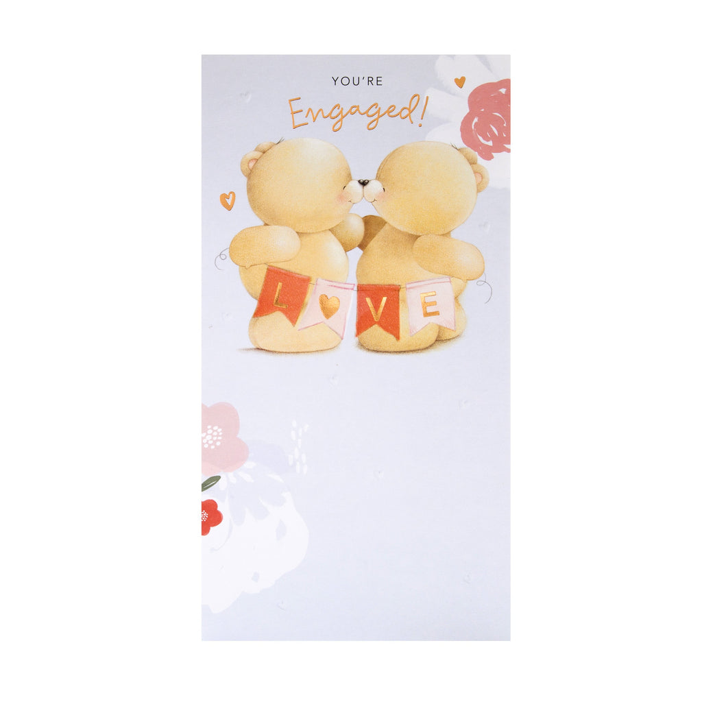 Engagement Card - Cute Forever Friends Design