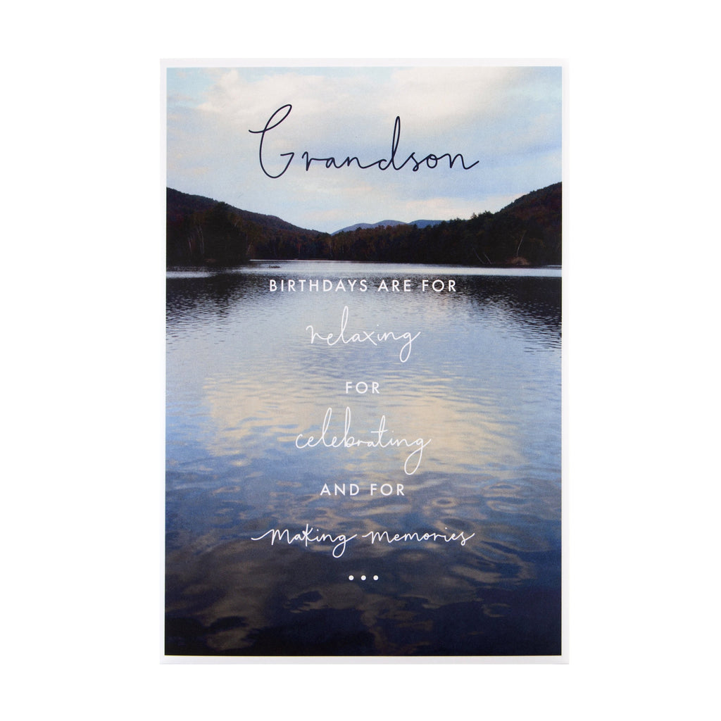 Birthday Card for Grandson - Contemporary Photographic Design