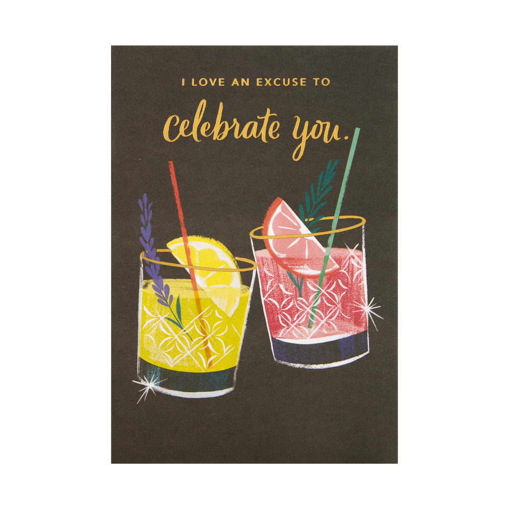 General Celebration Card - Contemporary 'good mail' Cocktails Design