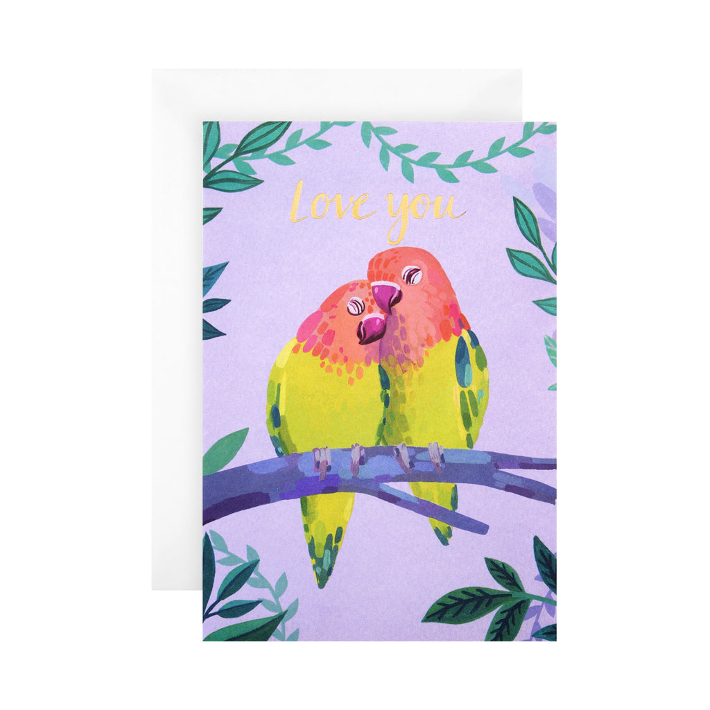 General Love Card - Love Birds 'good mail' Design