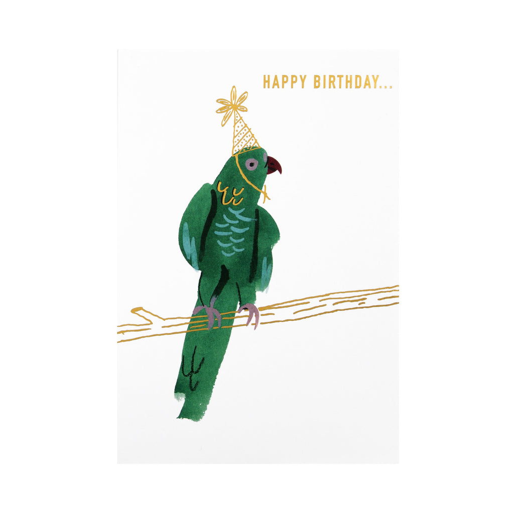 General Birthday Card - Contemporary 'good mail' Parrot Design