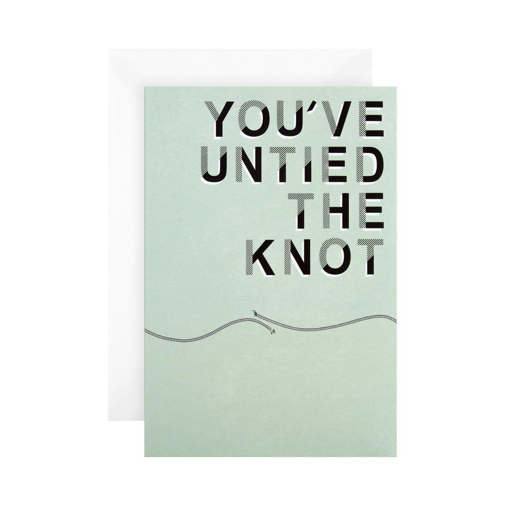 Divorce Congratulations Card - Contemporary Text Based 'State of Kind' Design