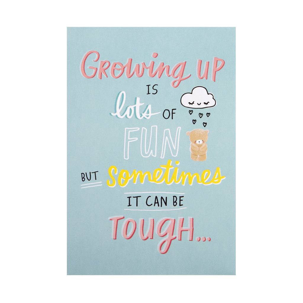 Teen Specific Support Card - Cute Forever Friends 'State of Kind' Design