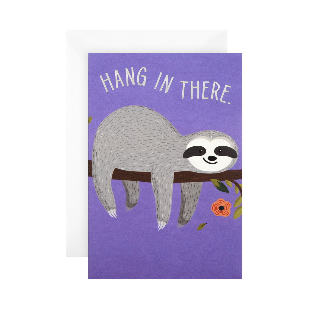 General Support Card - Cute 'State of Kind' Sloth Design