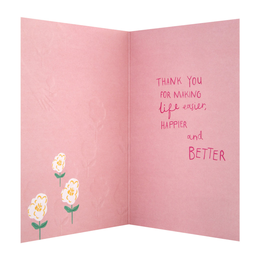 General Thank You Card - Cute Floral 'State of Kind' Design