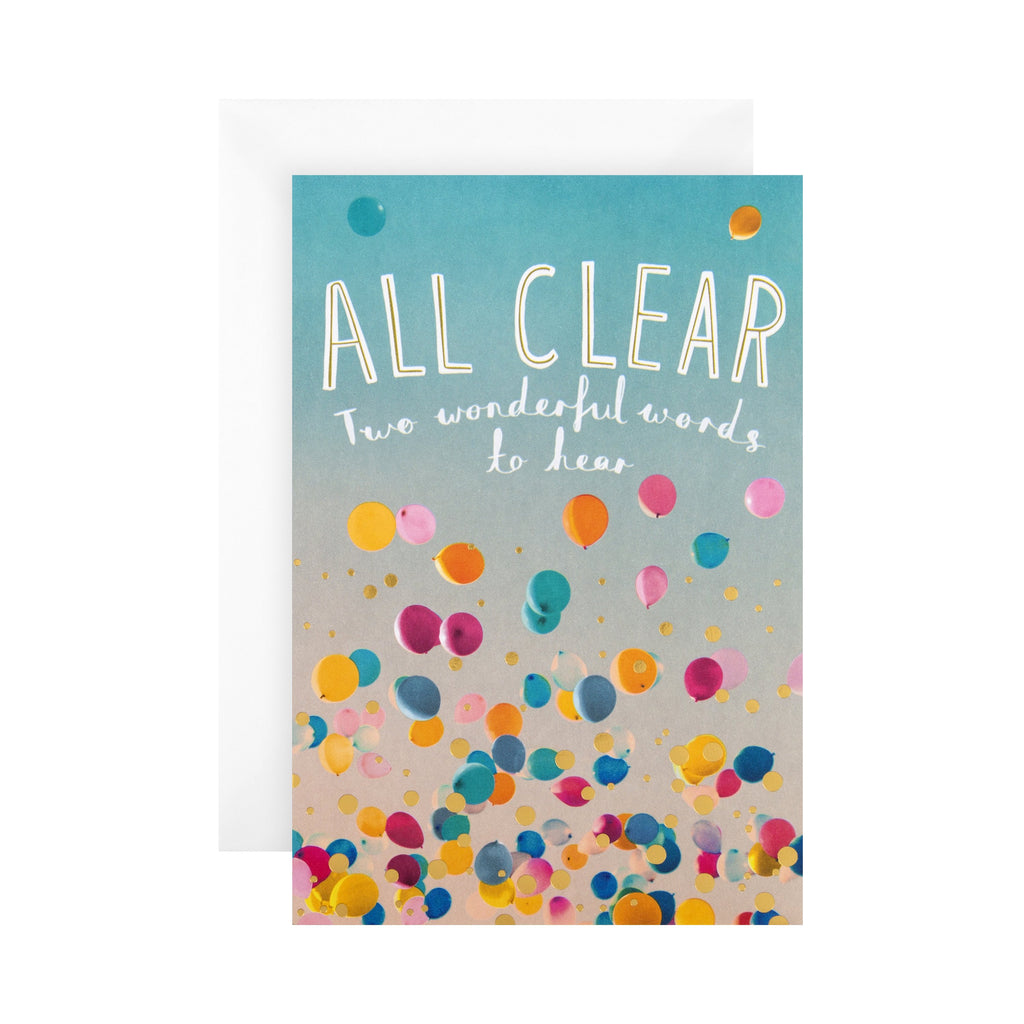 All Clear' Celebration/Congratulations Card - Photographic 'State of Kind' Design