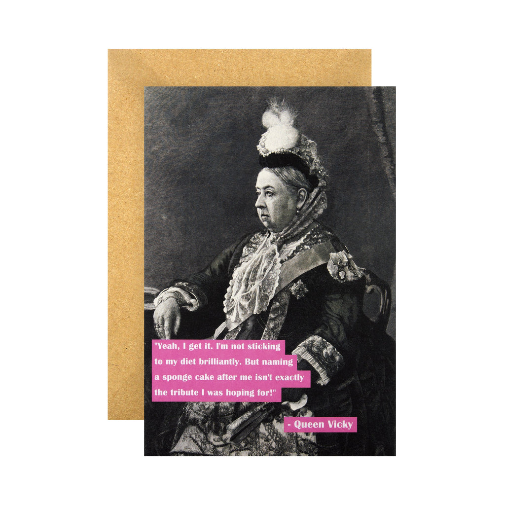Funny Birthday Card - Queen Victoria Shoebox Collection Design