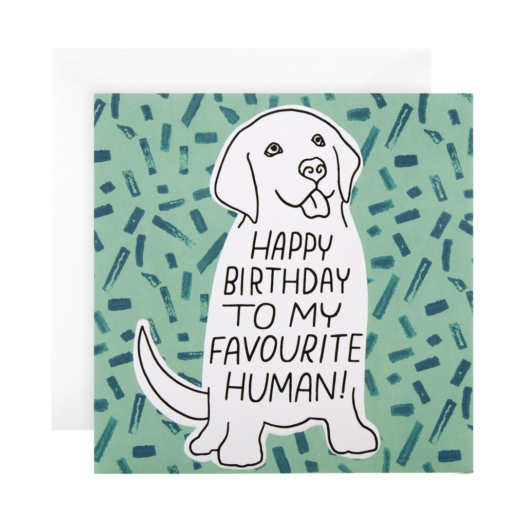 Birthday Card from the Dog - Embossed Studio Ink Design