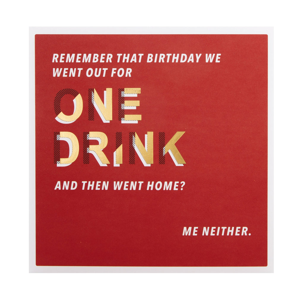 General Birthday Card -    Contemporary Text Based Design
