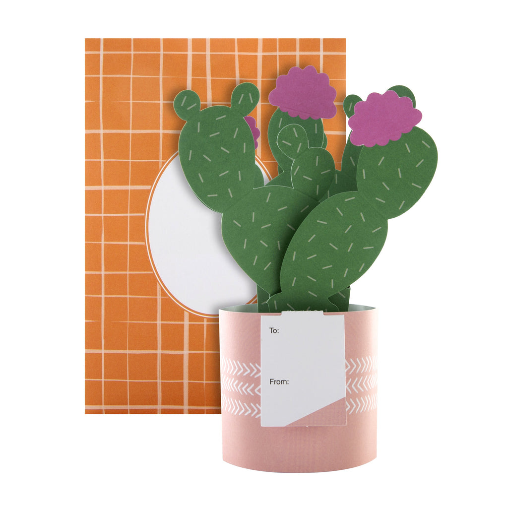 Pop-up Plant Card - Cactus Design