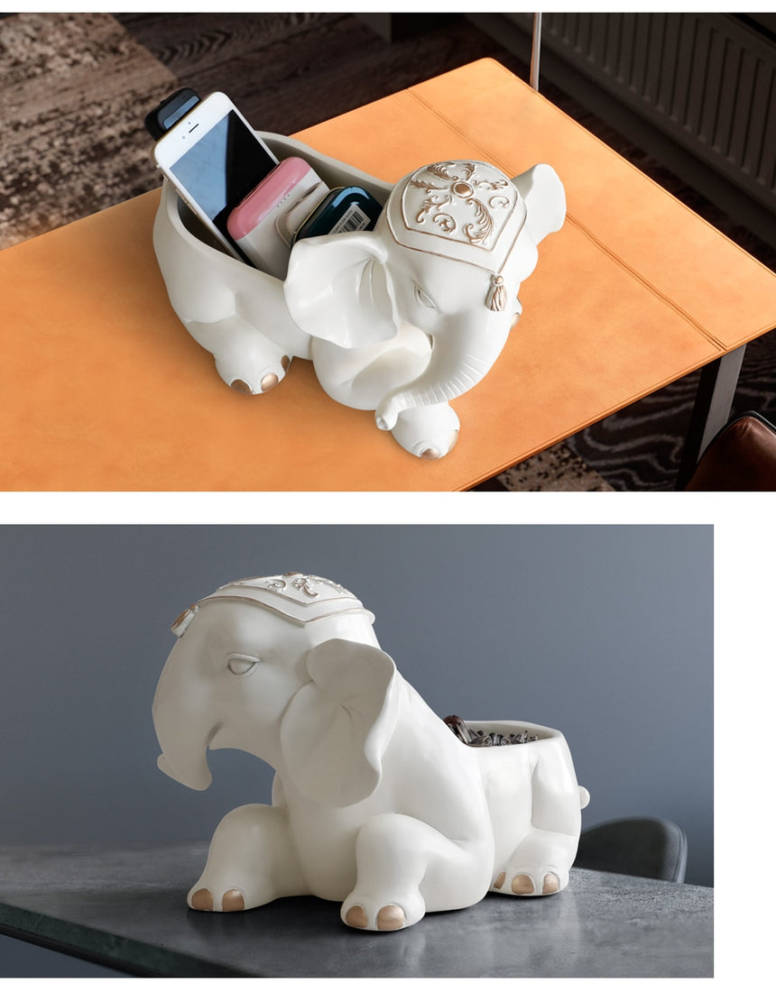 Resin Elephant Storage Box