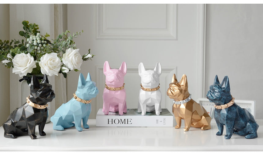 Dog Resin Figurine Pen Holder