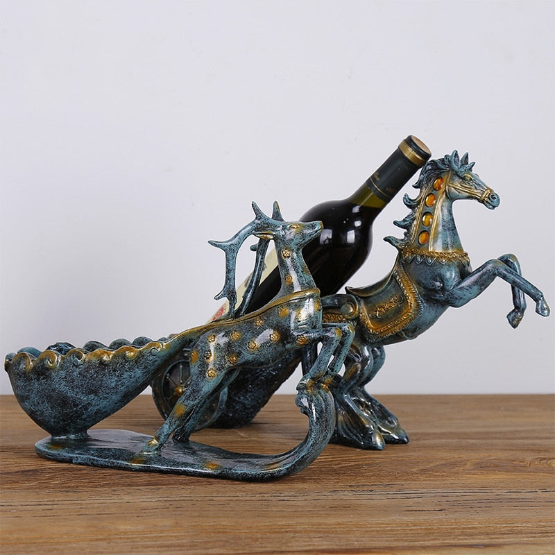 Animal Figurines Wine Cabinet