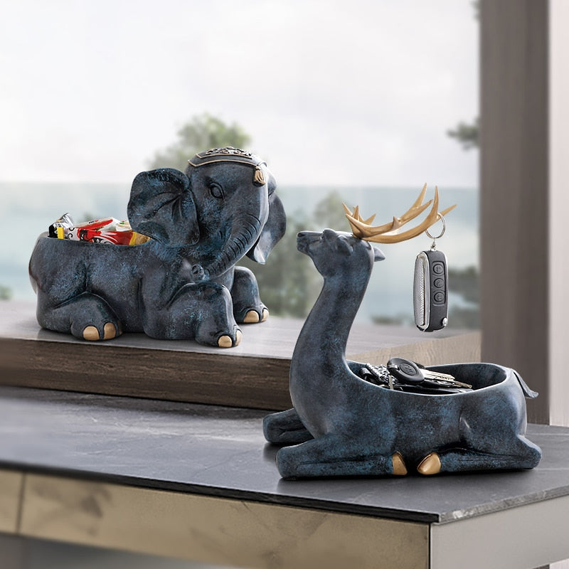 Deer Figurines Storage Box