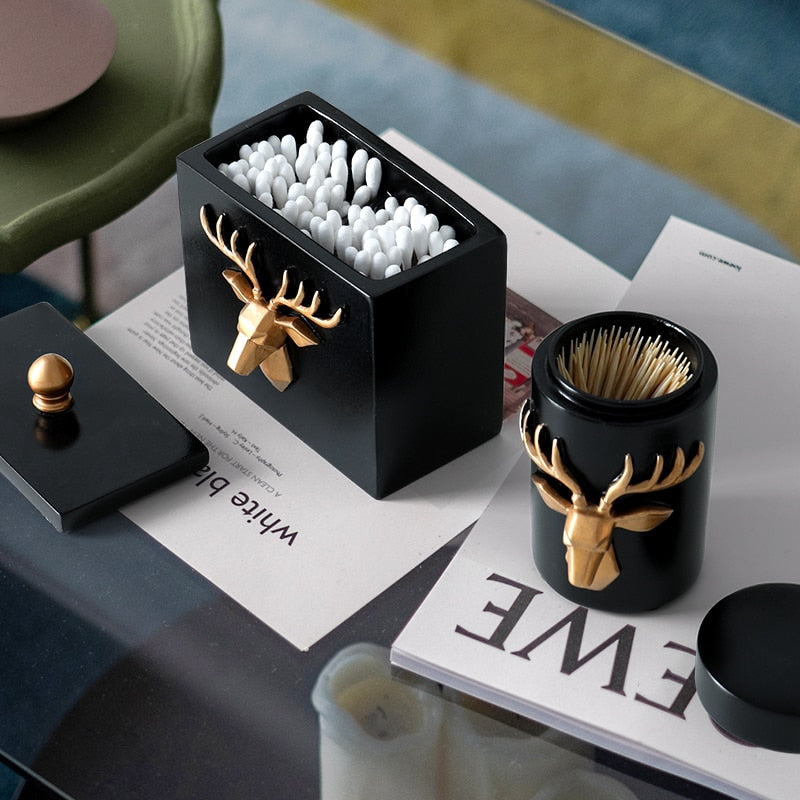 Deer Head Craft Toothpick Holder