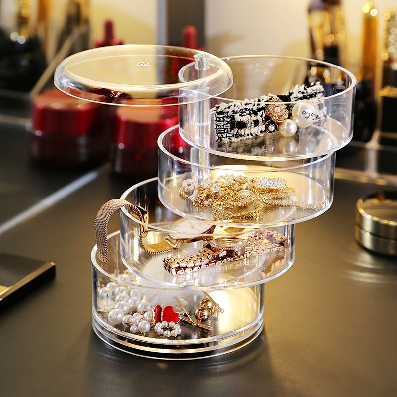 Multi Layers Rotatable Jewelry Box