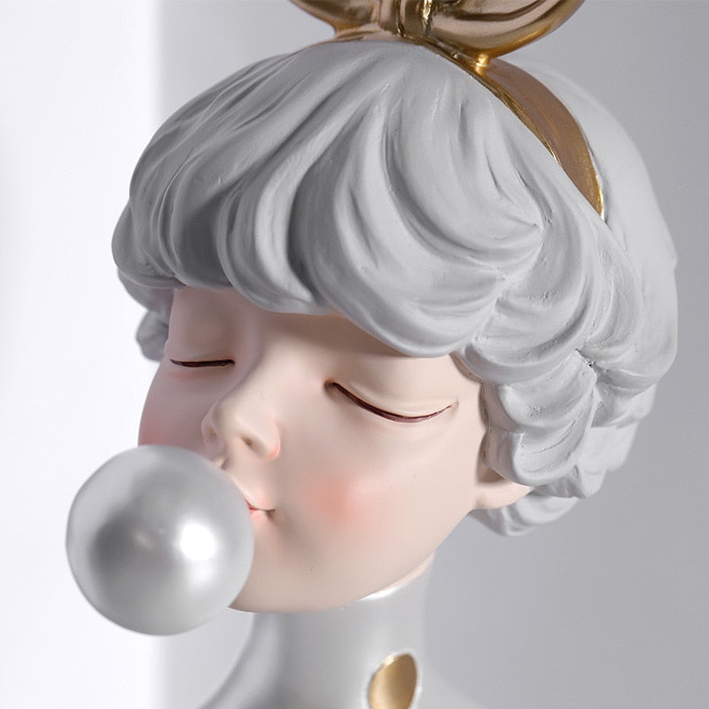 Bubble Girl Statue