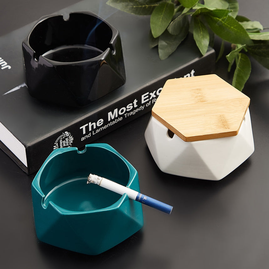 Creative Ashtrays with Lids