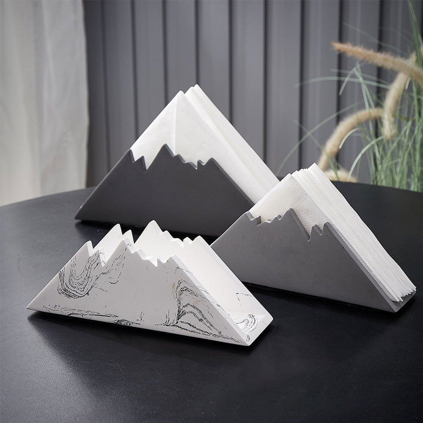 Snow Mountain Shape Tissue Box