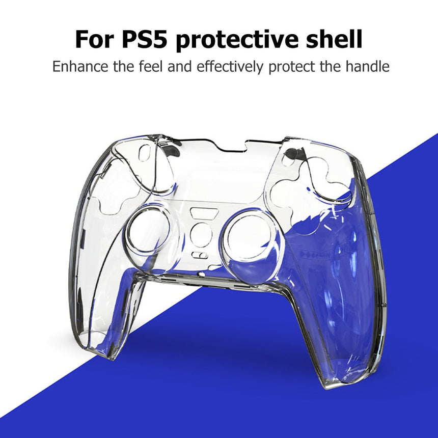 Hard Clear PC Case for PS5 Controller