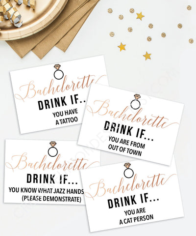 Printable Drinking Game Cards