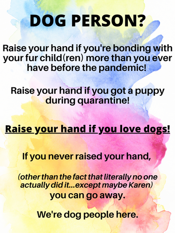 Dog Person? This page is for people that love dogs. If not, carry on.