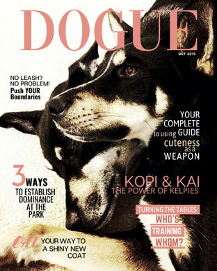 Personalized Dog Magazine Portrait: Classic (Digital Version)