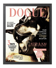 Load image into Gallery viewer, Personalized Dog Magazine Cover- Framed: Classic Theme - DOGUE By Gina