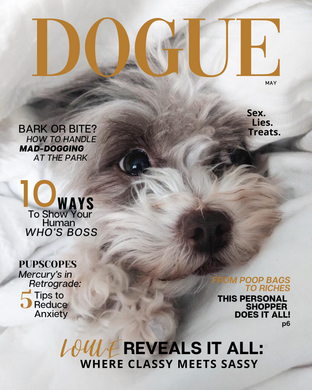 Framed Custom DOGUE Magazine Cover: Sassy - DOGUE By Gina
