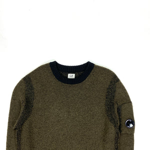 CP Company Two Tone Wool Crewneck Jumper