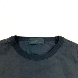 Stone Island Black Ghost Resin Cotton Crewneck