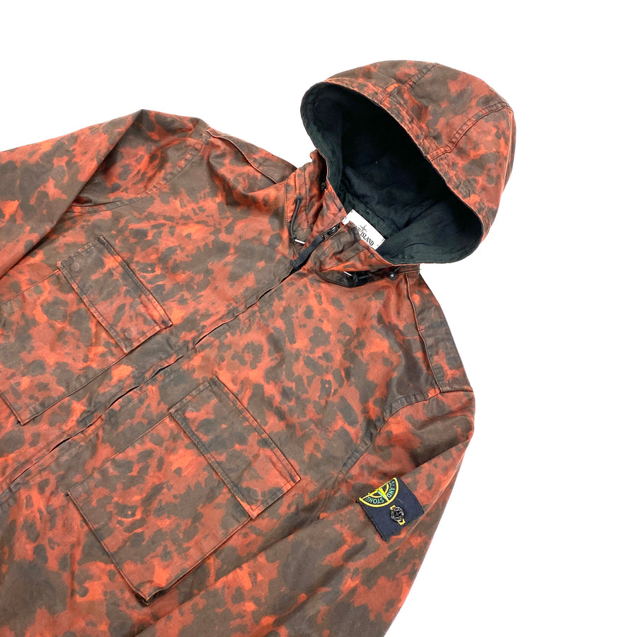 Stone Island 2014 Red Tortoise Shell Camo Hooded Jacket