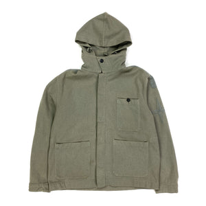 STONE ISLAND AW/2000 GREY THICK WOOL HOODED OVERSHIRT